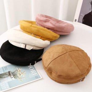 boinas Baldauren compactos de lã são vestidos de inverno elegantes em algodão plchecked, anis do vintage e um chapéu de mulher queda Boyna ocasional