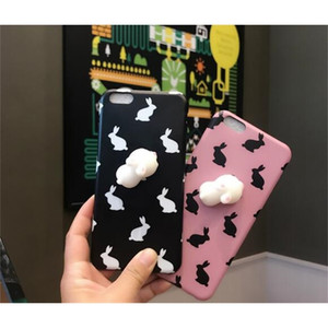Squishy Animal Toy 3D Silicone Phone Case rabit Cat pattern Nail Finger Pinch soft slow rising mobile phone shell for iPhone 6 7