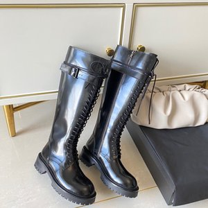 Fashion Women Spring Winter Genuine Leather High Quality Long Boots Brand Comfort Thigh-high Martin Boots Size 34-40