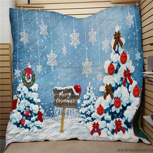 Home Textile Merry Christmas Design Quilt 3D Unique Bed Gift Bedroom Decoration For Kids Adults Modern Home Bed Set