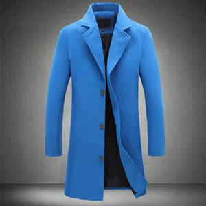Autumn Blue Mens Overcoat Winter Long Trench Coat Men Slim Fit Oversized Casual Woolen Coat Long Sleeve Outerwear 5xl 4xl