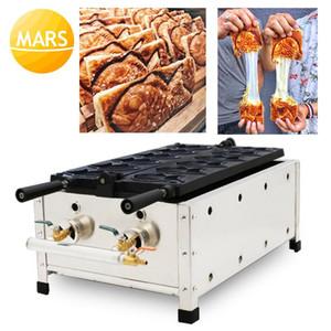 Ticari Kruvasan Taiyaki Makinesi Makinesi Gaz Balık Waffle Koni Makineleri Demir Tava CE ile Makineler