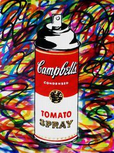 MR Brainwash Banksy Graffiti Art Tomate Spray Decoración para el hogar Pintado a mano HD Imprimir Pintura al óleo sobre lienzo Arte de la pared Fotos de lienzo EM25