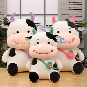 Cute Cow Plush Toy Small Sleeping Pillow Doll Girl Gift KSCU