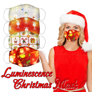 Wholesale Unisex adult facial led christmal party mask Masks Anti-fog Windproof Dust-proof Breathable light up Face Mask