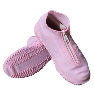 Waterproof non-slip rain zipper shoe covers for men, women and kids, suitable for indoor and outdoor rainy day