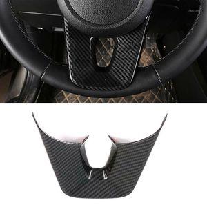 Для KIA SELTOS 2019 2020 3PCS Carbon Fibre ABS ABS автомобиль интерьер внутреннего рулевого колеса Крышка накладки
