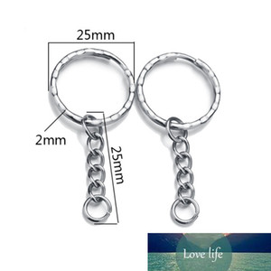 """30Pcs 53mm(2 1 8"""") Long Dull Silver Color Key Chains Rings Keychain Door Car Key DIY Jewelry Accessories"""