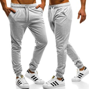 Mens Sweatpants Solid Lace Up Pants Casual Loose Long Trousers Men Clothing Male Sports Running Gym Sweatpants