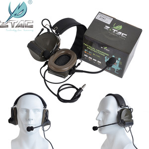 Z-Tac Tactical Headphones Peltor Comtac II No Noise Canceling Airsoft Communication Military Tactical Headset For Walkie-talkie Q1201