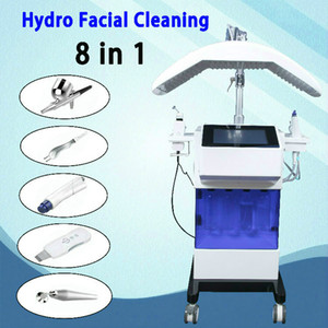 8 IN 1 Hydra Facial Machine RF skin rejuvenaiton Microdermabrasion Hydro Dermabrasion Bio-lifting wrinkle removal hydrafacial Spa Machine
