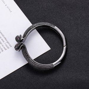 2020European and American Serpentine Rings with Diamond-plated-plated Adjustable Open Lady Bracelet