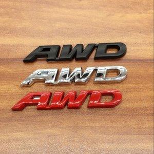 1pcs 3D metal Car sticker body sticker emblem Badge Four-wheel drive label stickers car styling for Honda AWD CRV Crosstour v6