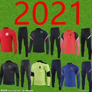 Homens 2021 Novo National Team Club Top Jogging Training Suit 2021 Meninos 'Futebol Fitness Terno