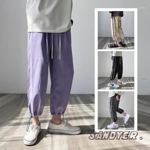 Sweatpants Men's Fashion Solid Color Casual Joggers Pants Men Streetwear Hip-hop Loose Straight Pants Mens Track M-5XL1