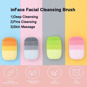 Xiaomi InfoCace Electric Deep Deep Facial Please Massage Brush Sonic Faccia Lavaggio IPX7 impermeabile Silicone Face Cleanser Cura della pelle