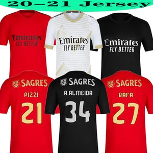 2020 2021 Top SL Benfica Jerseys de fútbol 20 21 Pizzi Waldschmidt Seferovic Todibo Everton Vertonghen Rafa A.Almeida Hombres Camisa de fútbol para niños