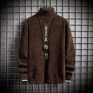 2021 Men's Sweater with Deer Hip Hop Thick Warm Male Knitwear New Mens Christmas Sweaters and Fashion Winter Pullover Men 5vfu