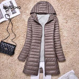 SEDUTMO Winter Plus Size 4XL Duck Down Jackets Women Ultra Light Long Down Coat Spring Hoodie Puffer Jacket Slim Parkas ED876 201124