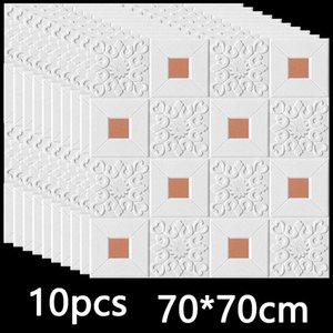 3D Wall Sticker Stereo Ceiling Panel Roof Decor Foam Wallpaper Self-adhesive Waterproof DIY Living Room Decoration TV Background Y1120