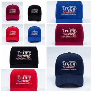 Donald Trump Baseball Hat USA Flag Cap Trump 2020 Hats 3D Embroidery Letter Snapback for Party Supplies 5styles RRA3375