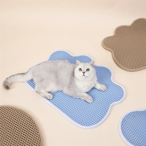 Waterproof Pet Cat Litter Mat Double Layer Litter Cat Bed Pads Trapping Pets Box Mat Pet Product Bed For Cats House Clean