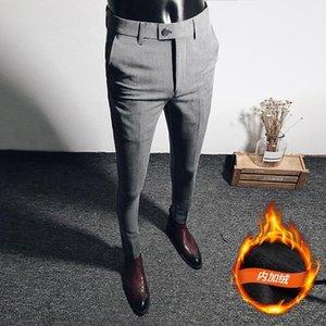 Мужские костюмы Blazers British Style Slim зимняя мода брюки классические мужские брюки формальные мужчины одежда Spodnie Bojowki Meskie повседневные брюки