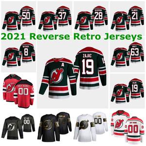 뉴저지 악마 2021 Reverse Retro Jerseys 45 Sami Vatanen Jersey 29 Mackenzie Blackwood 35 Cory Schneider Mens Womens 사용자 정의 스티치