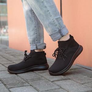 Nidengbao Zapatos causales de los hombres altos zapatillas altas zapatillas de mano impresionables zapatos para hombre de punto liviano antideslizante sin deslizamiento zapatos masculinos 40-50 # 5a7h