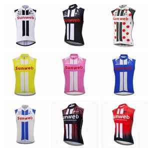 SunWeb Team Cycts Cycling без рукавов Jersey Vest Pro Bike MTB ROPA Ciclismo Cycling Mens Outdoors MTB езда на велосипеде Одежда для велосипедов Sportswear 101720