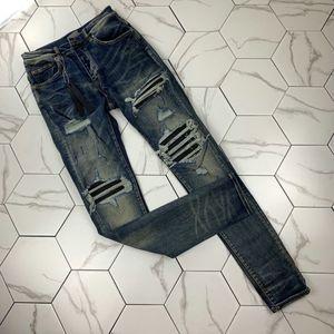 Специальные разорванные джинсы Nmen Mens Mens Jeans Slim Motherycle Moto Biker Cousal Mens джинсовые брюки хип-хоп мужские джинсы
