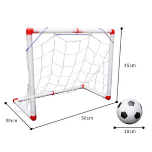 Outdoor Mini Folding Football Soccer Goal Post Net Set with Pump Kids Sport Indoor Games Toys Child Birthday Gift