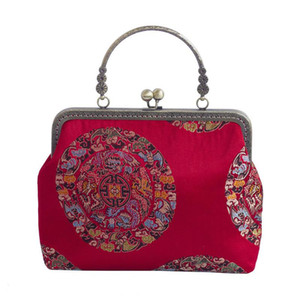 Chinese Bridal Bag Female Embroidery Red Women Shoulder Handbags Messenger Crossbody Bags Evening Totes Bag Clutch Purse