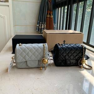 어깨 누비 이불 가방 럭셔리 여성 디자이너 크로스 바디 가방 미니 핸드백 2020 뜨거운 판매 체인 브랜드 플랩 여성 블랙 가죽 핸드백 지갑