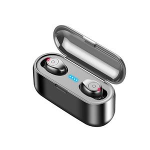 TWS Bluetooth v5.0 fone de ouvido sem fio estéreo esporte fones de ouvido sem fio fone de ouvido para iphone xiaomi preto