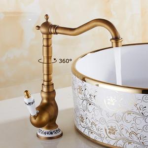 Bacia Torneiras Banheiro Cozinha Antique Bronze Faucet Baixo Bacia Punho Preto Hotcold Água Misturador Tapetes Acessórios de banho