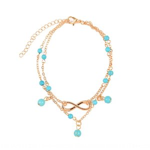 pendant Foot chain Pine stone Multi-Layer turquoise accessories hot sale chain K071 8-character Pine stone foot New Accessories bKbNd