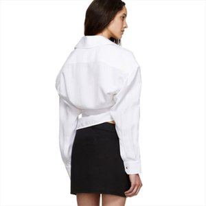DEAT 2020 New Summer And Autumn White Batwing Sleeves None Buttons Turn down Collar Full Sleeves Shirt Female Blouse WN18400L