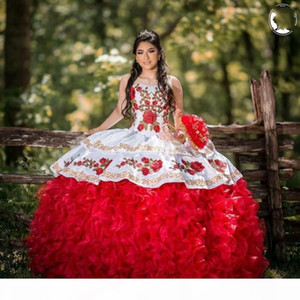 Sweet 16 Quinceanera Dresses Flower Applique Beaded vestido 15 anos Formal Mexican vestidos de quincea?era 2020 Prom Dress
