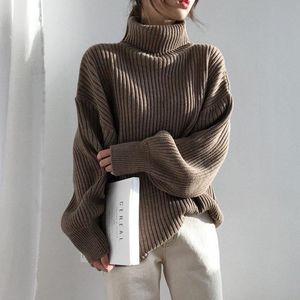 Aossviao Vintage Addensare Donne a strisce Maglioni Autunno Inverno TurtrleNeck Pullover Pull Bumper femminile Coreano Knitted Tops femme 2020