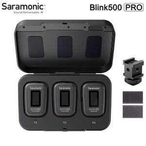 Saramonic Blink 500 Blink500 PRO B1 B2 Lavalier Microphone Dual Channel Studio Studio Studio Entretien Mic pour DSLR, Téléphone
