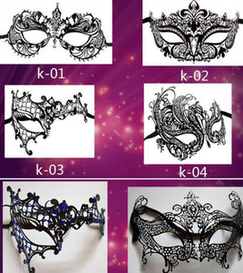 Metal Filigree Láser Corte Mascarilla Bola de Navidad Boda Charm Veneciano Mascarada Mascarada Rhinestone Mask Fancy Dress Party Eyemasks1