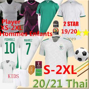20 21 Algerie Player XS-XXL Soccer Jerseys 2 Star Fans MAHREZ BOUNEDJAH BOUAZZA 19 20 Algeria maillot de football shir men kids kits Uniform