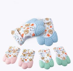 Baby Teether Luvas Squeaky Grind Dentes Chew Dos Desenhos Animados Dos Desenhos Animados Brinquedos Adoráveis Dêmeos Bebê Brinquedos Bebê Recém-nascido Doloroso Dor Relevo Dor Prática Brinquedos DHC5510