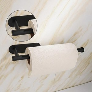 Bathroom Accessories Set Brushed Towel Shelf New Robe Hook Paper Rack Toilet Holder With 2 Installation Ways Black