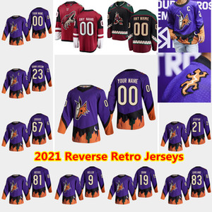 Arizona Coyotes 2021 Reverse Retro Hockey Jerseys Oliver Ekman-Larsson Jersey Conor Garland Jakob Chychrun Max Domi Oesterle Custom Stitched