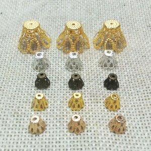 perles bout bouchons boucles boucles boucles boucles d'oreilles constatations Tassels fleurs charmes collier collier bijoux en filigrane spacer fixations texturées