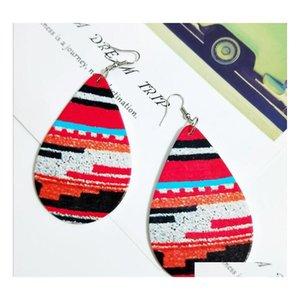 인쇄 된 물방울 나무 귀걸이 뜨거운 판매 레이 패스 프린트 귀걸이 레이디 드롭 모양의 귀걸이 패브릭 덮여 나무 Earr sqcqfy dh_seller2010