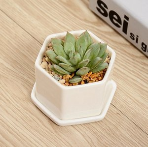 Ceramic Bonsai Pots Wholesale Mini White Porcelain Flowerpots Suppliers For Seeding Succulent Indoor Home Nursery Planters DBC BH4431