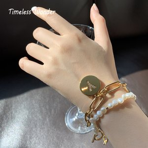Timeless Wonder Glam Zirconia Y Charm Bracelets Women Jewelry Punk Goth Boho Trendy Hiphop Runway Designer Top Ins New Rare 5122 F1211